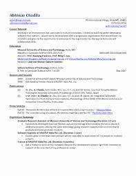 Engineering Fresher Resume Format Lovely Fresher Mechanical