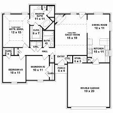 1 story 3 bedroom house plans unique 3 bedroom 2 5 bath 1 story house