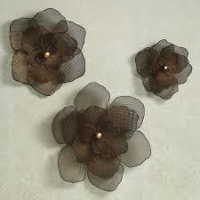 >large metal flower wall art home asataire flower wall art set  asataire flower blossom metal wall art set