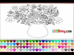 Small Picture Flower Vase Coloring Pages For Kids Flower Vase Coloring Pages