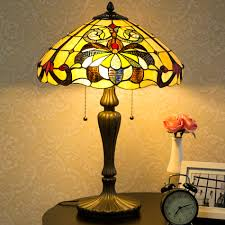 Waithman Tiffany Baroque Jeweled Stained Glass 235 Table Lamp