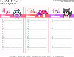 Cute Lists Cute To Do List Printable Cute Printable To Do Lists Free