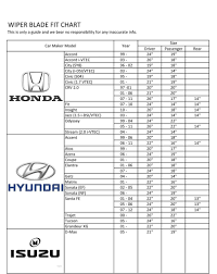 Bosch Wiper Blade Size Chart Best Picture Of Chart