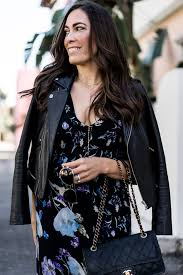 brunch outfits saks style phillip lim dress maje leather jacket classic chanel bag aglamlifestyle 2