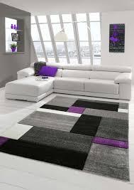 designer living room rug contemporary rug rug low pile carpet with contour cut diamonds pattern purple