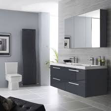 extraordinary black and white bathroom. Extraordinary Luxurious Grey Bathroom Ideas Designed With Tiled Wall And Flooring Also Floating Vanity In Gray Black White S