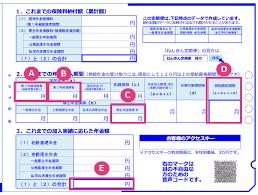 年金 定期 便 通知 書 の 見方