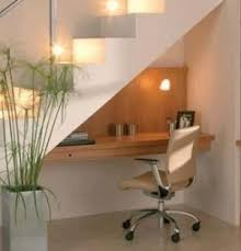 under stairs lighting. simple desk under the stairs lighting e