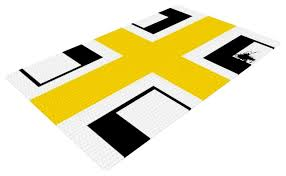 oriana cordero across the white yellow black woven area rug contemporary area rugs by kess global inc