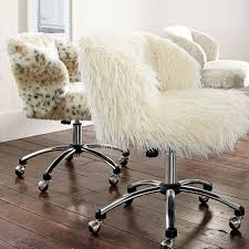 ivory furlicious wingback desk chair pbteen faux fur desk chair with arms