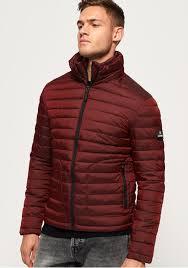 Superdry Mens Jacket Size Chart Superdry Mens Double Zip Fuji Jacket Dark Red