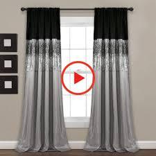 Nuit Ciel Fenêtre Panneau de rideau Noir / Gris simple 42X108 - Décor Lush  16T004562 in 2020 | Living room decor curtains, Panel curtains, Lush decor