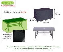 2018 whole garden furinture cover rectangular table cover 196 x114 x 71cm black color from dalihua 32 68 dhgate com