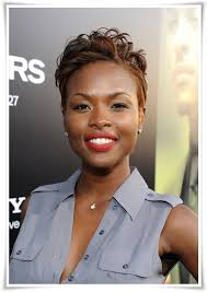 super edgy style short brown hairstyles for black women