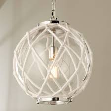 Nautical Globe Pendant Light White Rope Globe Pendant Globe Pendant White Rope Beach