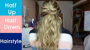 half up half down hairstyle for short um or long hair