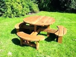 round picnic table with benches round wooden picnic table pub picnic benches round tables round picnic