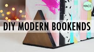 diy modern bookends  youtube