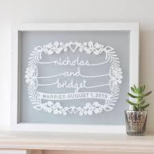 personalized wall art wedding gift