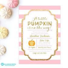 Pumpkin Invitations Template Pumpkin Baby Shower Invitations Image 0 Printable Little Pumpkin