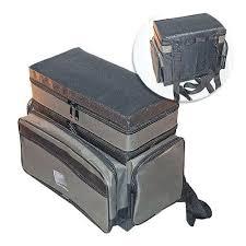 <b>Ящик</b>-рюкзак <b>рыболовный зимний SALMO</b> пенопл. 2-х ярус. H ...