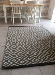 geometric grey rug large