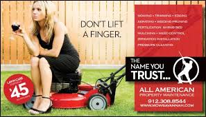 lawncare ad all american lawn ad from savannah lawn care all american property