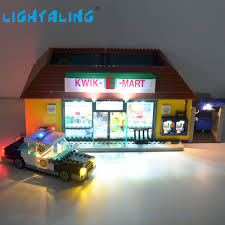 lego lighting. Lightaling Led Light Set For The Simpsons Kwik E Mart Lighting Kit Compatible With Lego 71016 Building Block 16004 Toy-in Blocks From Toys \u0026 Hobbies On L