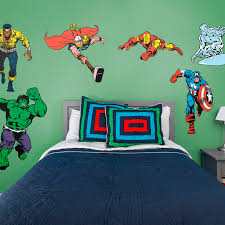 marvel classic superheroes large officially licensed removable wall decals fathead wall decal