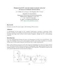 Resonant Converter Design Pdf Design Of An Lcc Current Output Resonant Converter For