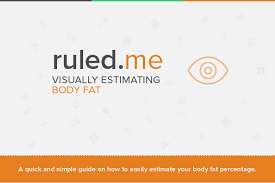 How To Find Out Fat Percentage Visually Estimating Body Fat Percentage Ruled Me