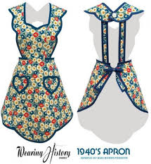 Vintage Apron Patterns Awesome Free Printable Vintage Apron Pattern Vintage Apron Patterns Free