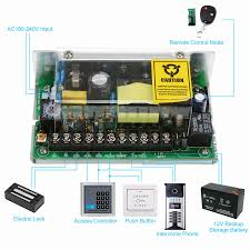 Ac100-240V To Dc 12V/5A Power Supply For Door Access Control ...
