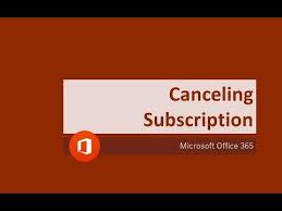 Cancel Office 365 Office 365 How To Cancel Office 365 Home Subscription
