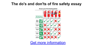 the do s and don ts of fire safety essay google docs