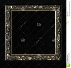black antique picture frames. Old, Vintage, Antique Frame On Black Background Picture Frames
