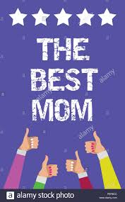 conceptual photo appreciation for your mother love feelings pliment men women hands thumbs up approval five stars i