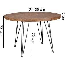 Finebuy Design Esszimmertisch Bati Rund ø 120 X 78 Cm Sheesham Massiv Holz Landhaus Esstisch Braun Tisch Für Esszimmer Küchentisch 4 Personen