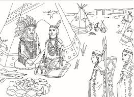 Download Thanksgiving Indian Girl Coloring Page 10 Pilgrim And Pages