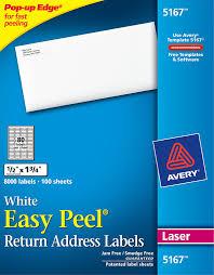 Avery Easy Peel White Return Address Labels 5167