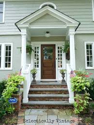 Front Porch Portico Pictures Building A Front Portico Southern Hospitality  Home Decoration Ideas