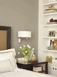 bedside lighting wall mounted. sophisticated bedroom with warm gray walls paint color chocolate wood bedside lighting wall mounted