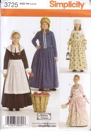 Clothing Sewing Patterns Best Amazon Simplicity Sewing Pattern 48 Girl's Pioneer Pilgrim