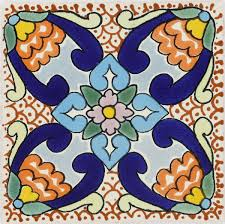 6X6 Decorative Ceramic Tile Mexican Tile Decorative Talavera Mexican Tile 38