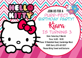 Hello Kitty Invitation Hello Kitty Invitations Template Postermywall