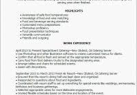 Caterer Resume Caterer Resume Samples Visualcv Resume Samples Database For Catering