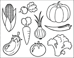 Nice Ideas Vegetables Pictures For Coloring Vegetable Colouring