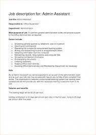 Job Description Of Business Administration Samples System Good