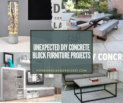 Concrete, cement, and cinder block are all pretty mundane building materials. Unexpected Diy Concrete Block Furniture Projects Home And Garden Digest