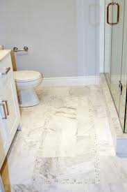 ... Fascinating Classic Tile Pattern Flooring For Interior Decoration :  Epic Image Of White Bathroom Decoration Using ...
